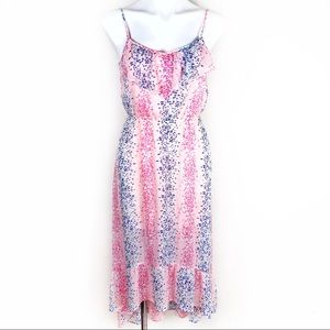 Candie's high-low multicolored dress